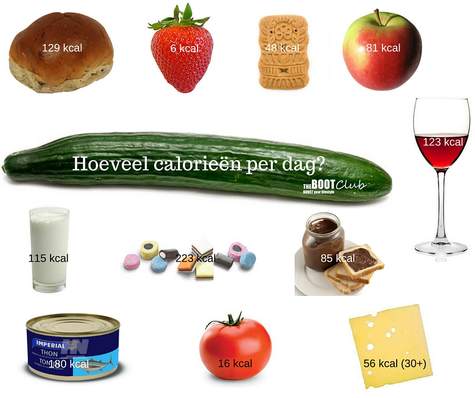 dieet hoeveel calorieën per dag